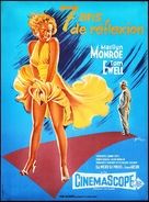 The Seven Year Itch - French Movie Poster (xs thumbnail)