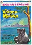 Sommaren med Monika - Spanish Movie Poster (xs thumbnail)