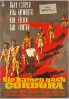 They Came to Cordura - German Movie Poster (xs thumbnail)