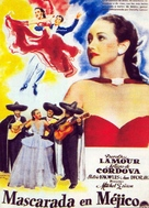 Masquerade in Mexico - Spanish Movie Poster (xs thumbnail)