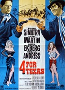 4 for Texas - Danish Movie Poster (xs thumbnail)