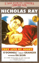 They Live by Night - French VHS cover (xs thumbnail)