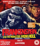 Frankenstein and the Monster from Hell - British Blu-Ray movie cover (xs thumbnail)