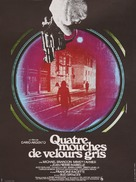 4 mosche di velluto grigio - French Movie Poster (xs thumbnail)