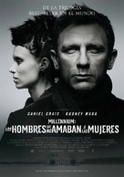 The Girl with the Dragon Tattoo - Spanish Movie Poster (xs thumbnail)