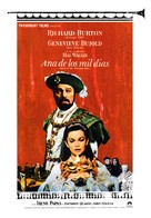 Anne of the Thousand Days - Spanish Movie Poster (xs thumbnail)