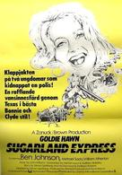 The Sugarland Express - Swedish Movie Poster (xs thumbnail)