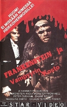 Frankenstein and the Monster from Hell - Finnish VHS movie cover (xs thumbnail)