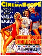 How to Marry a Millionaire - French Movie Poster (xs thumbnail)