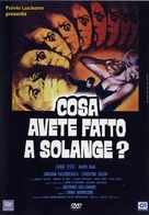 Cosa avete fatto a Solange? - Italian DVD cover (xs thumbnail)
