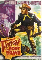 Escape from Fort Bravo - German Movie Poster (xs thumbnail)