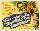 Zombies on Broadway - Movie Poster (xs thumbnail)