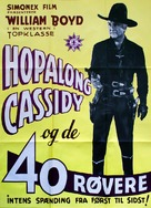 Forty Thieves - Danish Movie Poster (xs thumbnail)