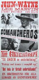 The Comancheros - Swedish Movie Poster (xs thumbnail)