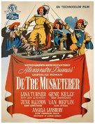 The Three Musketeers - Danish Movie Poster (xs thumbnail)