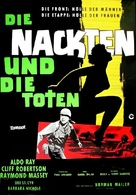 The Naked and the Dead - German Re-release movie poster (xs thumbnail)