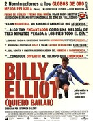 Billy Elliot - Spanish Movie Poster (xs thumbnail)