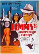 Alphaville, une étrange aventure de Lemmy Caution - Danish Movie Poster (xs thumbnail)