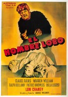 The Wolf Man - Spanish Movie Poster (xs thumbnail)