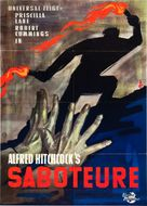 Saboteur - German Re-release movie poster (xs thumbnail)