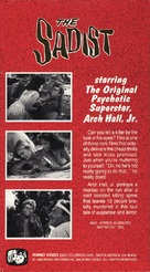 The Sadist - VHS cover (xs thumbnail)