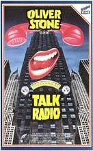 Talk Radio - Finnish VHS movie cover (xs thumbnail)