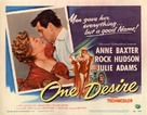 One Desire - Movie Poster (xs thumbnail)