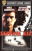 Lethal Weapon - Finnish VHS movie cover (xs thumbnail)