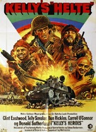 Kelly's Heroes - Danish Movie Poster (xs thumbnail)