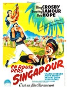 Road to Singapore - French Movie Poster (xs thumbnail)