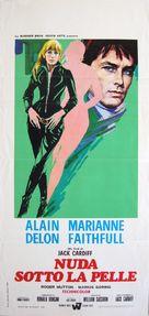 The Girl on a Motocycle - Italian Movie Poster (xs thumbnail)