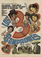 Los tres compadres - Mexican Movie Poster (xs thumbnail)