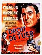 The Unknown Man - Belgian Movie Poster (xs thumbnail)