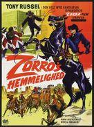 El Zorro cabalga otra vez - Danish Movie Poster (xs thumbnail)