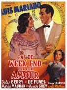 Pas de week-end pour notre amour - French Movie Poster (xs thumbnail)