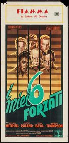 My Six Convicts - Italian Movie Poster (xs thumbnail)