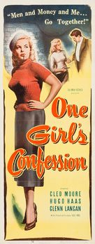 One Girl's Confession - Movie Poster (xs thumbnail)