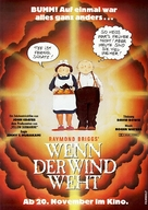 When the Wind Blows - German Movie Poster (xs thumbnail)