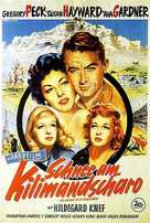 The Snows of Kilimanjaro - German Movie Poster (xs thumbnail)