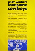 Lonesome Cowboys - German Movie Poster (xs thumbnail)