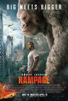 Rampage - Theatrical movie poster (xs thumbnail)