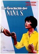 Vivre sa vie: Film en douze tableaux - German Movie Poster (xs thumbnail)