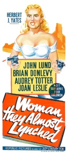 Woman They Almost Lynched - Australian Movie Poster (xs thumbnail)