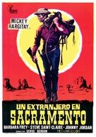Uno straniero a Sacramento - Spanish Movie Poster (xs thumbnail)