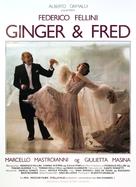 Ginger e Fred - Danish Movie Poster (xs thumbnail)