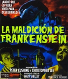 The Curse of Frankenstein - Spanish Movie Cover (xs thumbnail)