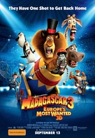 Madagascar 3: Europe's Most Wanted - Australian Movie Poster (xs thumbnail)