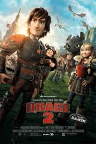 How to Train Your Dragon 2 - Danish Movie Poster (xs thumbnail)
