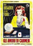 The Loves of Carmen - Italian Movie Poster (xs thumbnail)