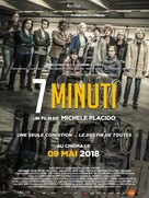 7 Minuti - French Movie Poster (xs thumbnail)